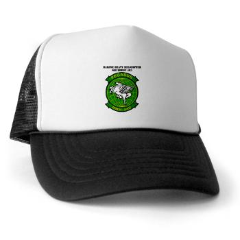 MHHS463 - A01 - 02 - DUI - Marine Heavy Helicopter Squadron 463 with Text - Trucker Hat