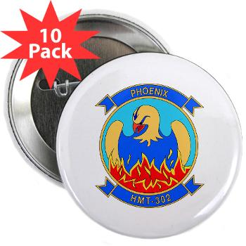 "MHHTS302 - M01 - 01 - Marine Heavy Helicopter Training Squadron 302 (HMHT-302) 2.25"" Button (10 pack)"