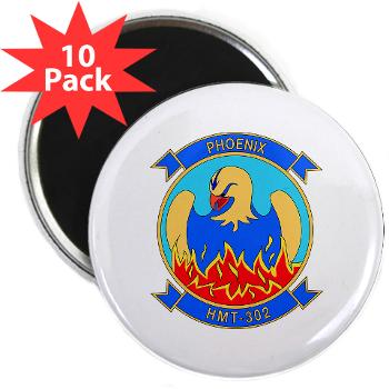 "MHHTS302 - M01 - 01 - Marine Heavy Helicopter Training Squadron 302 (HMHT-302) 2.25"" Magnet (10 pack)"