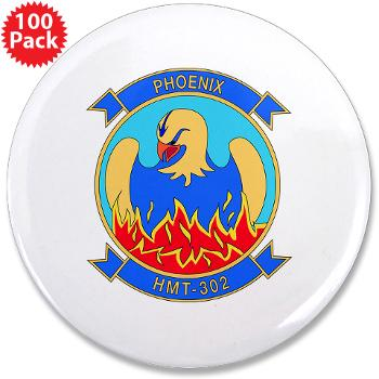 "MHHTS302 - M01 - 01 - Marine Heavy Helicopter Training Squadron 302 (HMHT-302) 3.5"" Button (100 pack)"