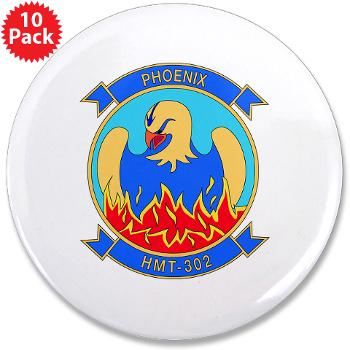 "MHHTS302 - M01 - 01 - Marine Heavy Helicopter Training Squadron 302 (HMHT-302) 3.5"" Button (10 pack)"