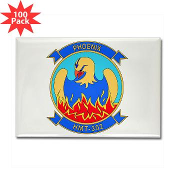 MHHTS302 - M01 - 01 - Marine Heavy Helicopter Training Squadron 302 (HMHT-302) Rectangle Magnet (100 pack)