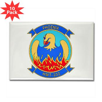 MHHTS302 - M01 - 01 - Marine Heavy Helicopter Training Squadron 302 (HMHT-302) Rectangle Magnet (10 pack)