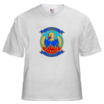 MHHTS302 - A01 - 04 - Marine Heavy Helicopter Training Squadron 302 (HMHT-302) White T-Shirt