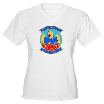 MHHTS302 - A01 - 04 - Marine Heavy Helicopter Training Squadron 302 (HMHT-302) Women's V-Neck T-Shirt