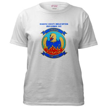 MHHTS302 - A01 - 04 - Marine Heavy Helicopter Training Squadron 302 (HMHT-302) with Text Women's T-Shirt