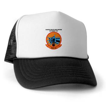 MHS461 - A01 - 02 - Marine Heavy Helicopter Squadron 461 (HMH-461) with Text - Trucker Hat