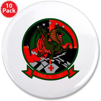 "MLAHS167 - M01 - 01 - Marine Light Attack Helicopter Squadron 167 (HMLA-167) 3.5"" Button (10 pack)"