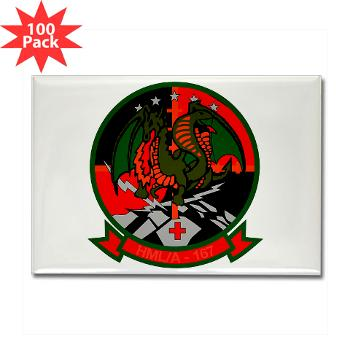 MLAHS167 - M01 - 01 - Marine Light Attack Helicopter Squadron 167 (HMLA-167) Rectangle Magnet (100 pack)
