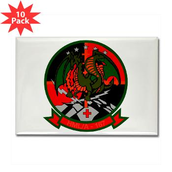 MLAHS167 - M01 - 01 - Marine Light Attack Helicopter Squadron 167 (HMLA-167) Rectangle Magnet (10 pack)