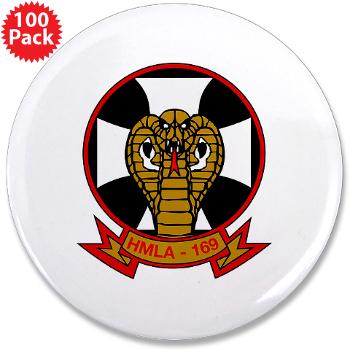 "MLAHS169 - M01 - 01 - Marine Light Attack Helicopter Squadron 169 - 3.5"" Button (100 pack)"