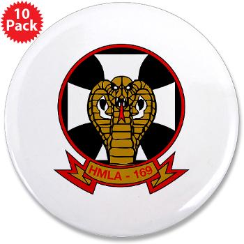 "MLAHS169 - M01 - 01 - Marine Light Attack Helicopter Squadron 169 - 3.5"" Button (10 pack)"