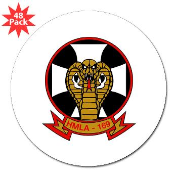 "MLAHS169 - M01 - 01 - Marine Light Attack Helicopter Squadron 169 - 3"" Lapel Sticker (48 pk)"