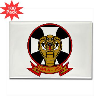 MLAHS169 - M01 - 01 - Marine Light Attack Helicopter Squadron 169 - Rectangle Magnet (100 pack)