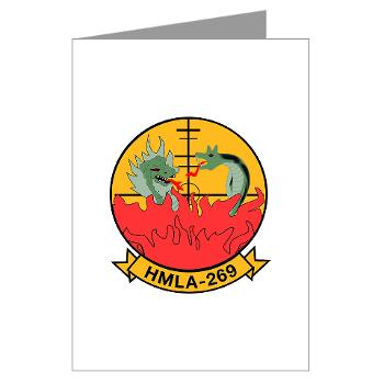 MLAHS269 - M01 - 02 - Marine Light Attack Helicopter Squadron 269 (HMLA-269) - Greeting Cards (Pk of 20)