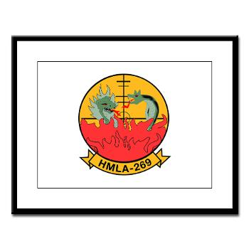 MLAHS269 - M01 - 02 - Marine Light Attack Helicopter Squadron 269 (HMLA-269) - Large Framed Print
