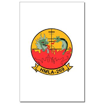 MLAHS269 - M01 - 02 - Marine Light Attack Helicopter Squadron 269 (HMLA-269) - Mini Poster Print