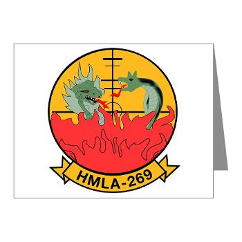 MLAHS269 - M01 - 02 - Marine Light Attack Helicopter Squadron 269 (HMLA-269) - Note Cards (Pk of 20)