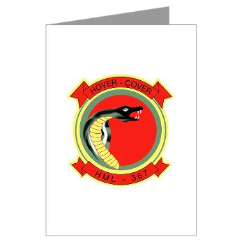 MLAHS367 - M01 - 02 - Marine Lt Atk Helicopter Squadron 367 Greeting Cards (Pk of 20)