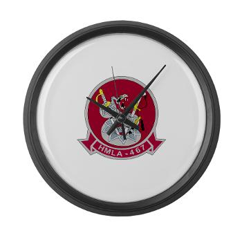 MLAHS467 - M01 - 03 - Marine Light Attack Helicopter Squadron 467 (HMLA-467) - Large Wall Clock