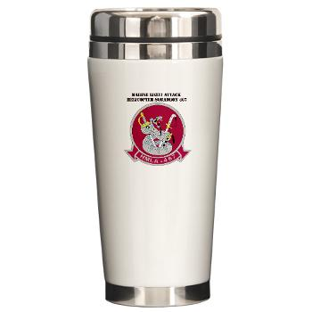 MLAHS467 - M01 - 03 - Marine Light Attack Helicopter Squadron 467 (HMLA-467) with Text - Ceramic Travel Mug