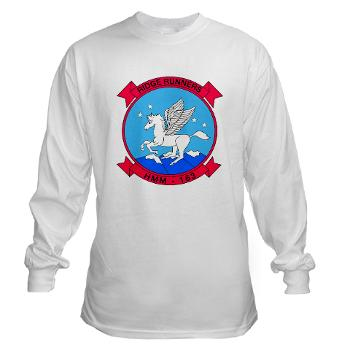 MMHS163 - A01 - 03 - Marine Medium Helicopter Squadron 163 - Long Sleeve T-Shirt