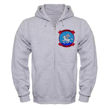 MMHS163 - A01 - 03 - Marine Medium Helicopter Squadron 163 - Zip Hoodie