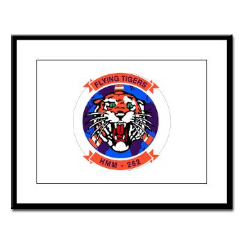 MMHS262 - M01 - 02 - Marine Medium Helicopter Squadron 262 Large Framed Print
