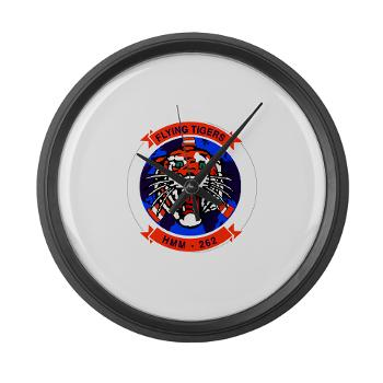 MMHS262 - M01 - 03 - Marine Medium Helicopter Squadron 262 Large Wall Clock