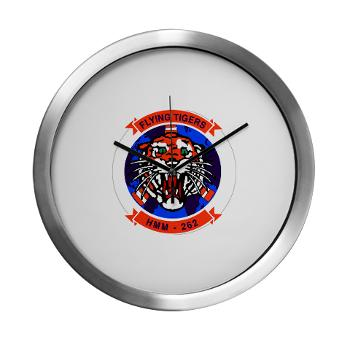 MMHS262 - M01 - 03 - Marine Medium Helicopter Squadron 262 Modern Wall Clock