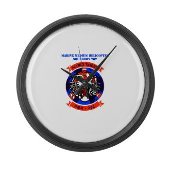 MMHS262 - M01 - 03 - Marine Medium Helicopter Squadron 262 with Text Large Wall Clock