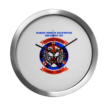 MMHS262 - M01 - 03 - Marine Medium Helicopter Squadron 262 with Text Modern Wall Clock