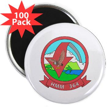 "MMHS364 - M01 - 01 - Marine Medium Helicopter Squadron 364 - 2.25"" Magnet (100 pack) x"