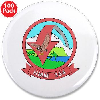 "MMHS364 - M01 - 01 - Marine Medium Helicopter Squadron 364 - 3.5"" Button (100 pack)"