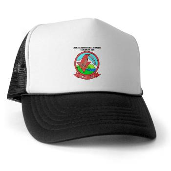 MMHS364 - A01 - 02 - Marine Medium Helicopter Squadron 364 with Text - Trucker Hat