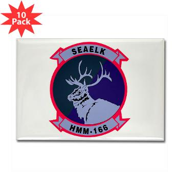 MMTS166 - A01 - 01 - USMC - Marine Medium Tiltrotor Squadron 166 - Rectangle Magnet (10 pack)