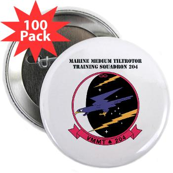 "MMTTS204 - M01 - 01 - Marine Medium Tiltrotor Training Squadron 204 with text 2.25"" Button (100 pack)"