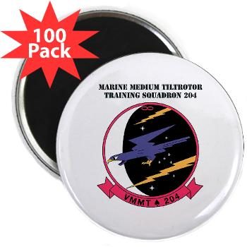 "MMTTS204 - M01 - 01 - Marine Medium Tiltrotor Training Squadron 204 with text 2.25"" Magnet (100 pack)"