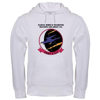 MMTTS204 - A01 - 03 - Marine Medium Tiltrotor Training Squadron 204 with text Hooded Sweatshirt