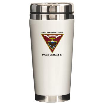 MPC27 - M01 - 03 - Military Police Company 27 with Text Ceramic Travel Mug