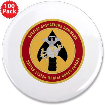 "MSOC - M01 - 01 - Marine Special Ops Cmd - 3.5"" Button (100 pack)"