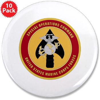 "MSOC - M01 - 01 - Marine Special Ops Cmd - 3.5"" Button (10 pack)"