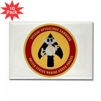 MSOC - M01 - 01 - Marine Special Ops Cmd - Rectangle Magnet (10 pack)