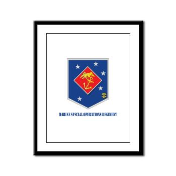 MSOR - M01 - 02 - Marine Special Operations Regiment with Text - Framed Panel Print