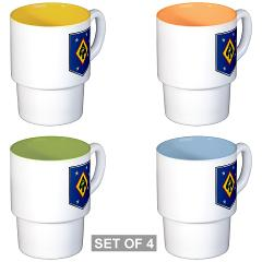 MSOSG - M01 - 03 - Marine Special Operations Support Group - Stackable Mug Set (4 mugs)