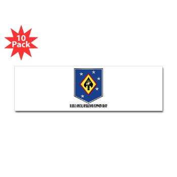 MSOSG - M01 - 01 - Marine Special Operations Support Group with Text - Sticker (Bumper 10 pk)