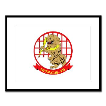 MTACS18 - A01 - 01 - Marine Tactical Air Command Squadron 18 - Large Framed Print