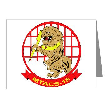 MTACS18 - A01 - 01 - Marine Tactical Air Command Squadron 18 - Note Cards (Pk of 20)