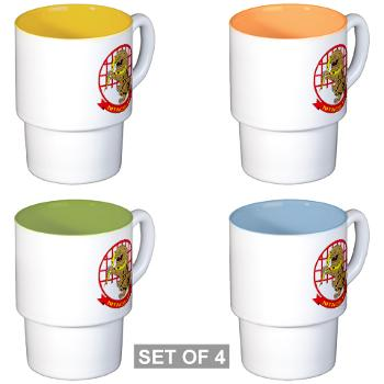 MTACS18 - A01 - 01 - Marine Tactical Air Command Squadron 18 - Stackable Mug Set (4 mugs)