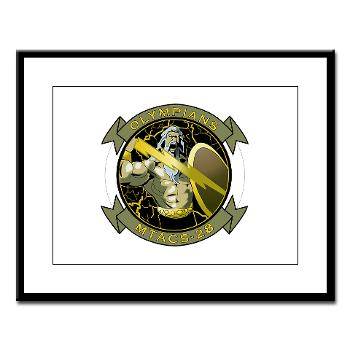 MTACS28 - M01 - 02 - Marine Tactical Air Command Squadron 28 (MTACS-28) Large Framed Print